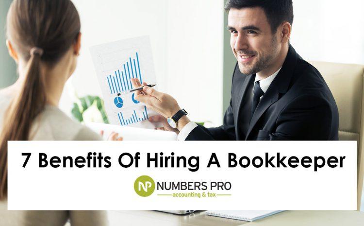 Benefits Of Hiring A Bookkeeper