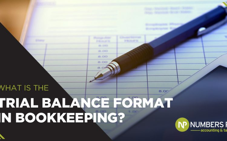 What is the trial balance format in bookkeeping?